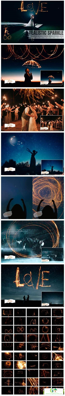 50 Happy Realistic Sparkle Overlays