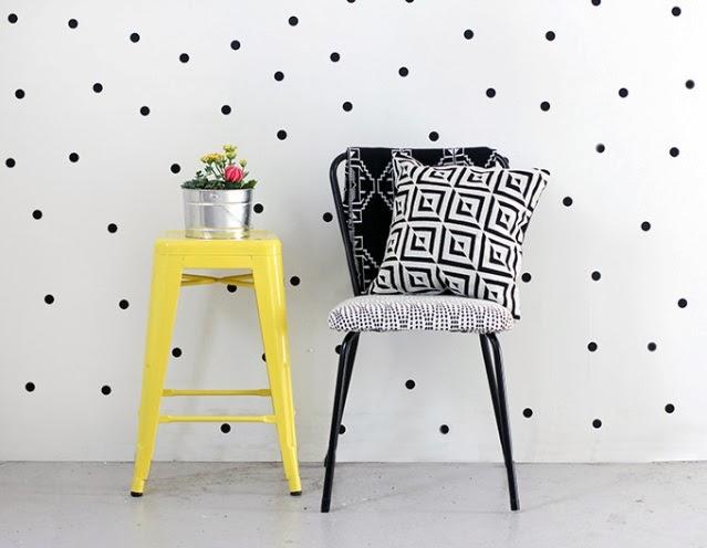 dots polkadots lunares decoración pared