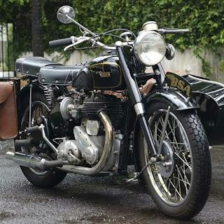 BSA M20 Th 1948 plus Sidecar