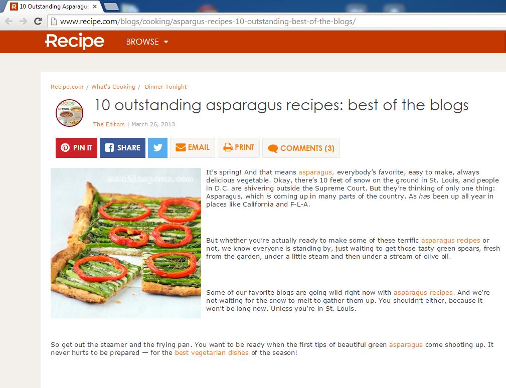 Ten Outstanding Asparagus Recipes