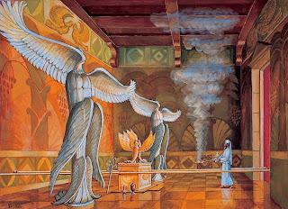 Resultado de imagem para querubins+templo+salomão