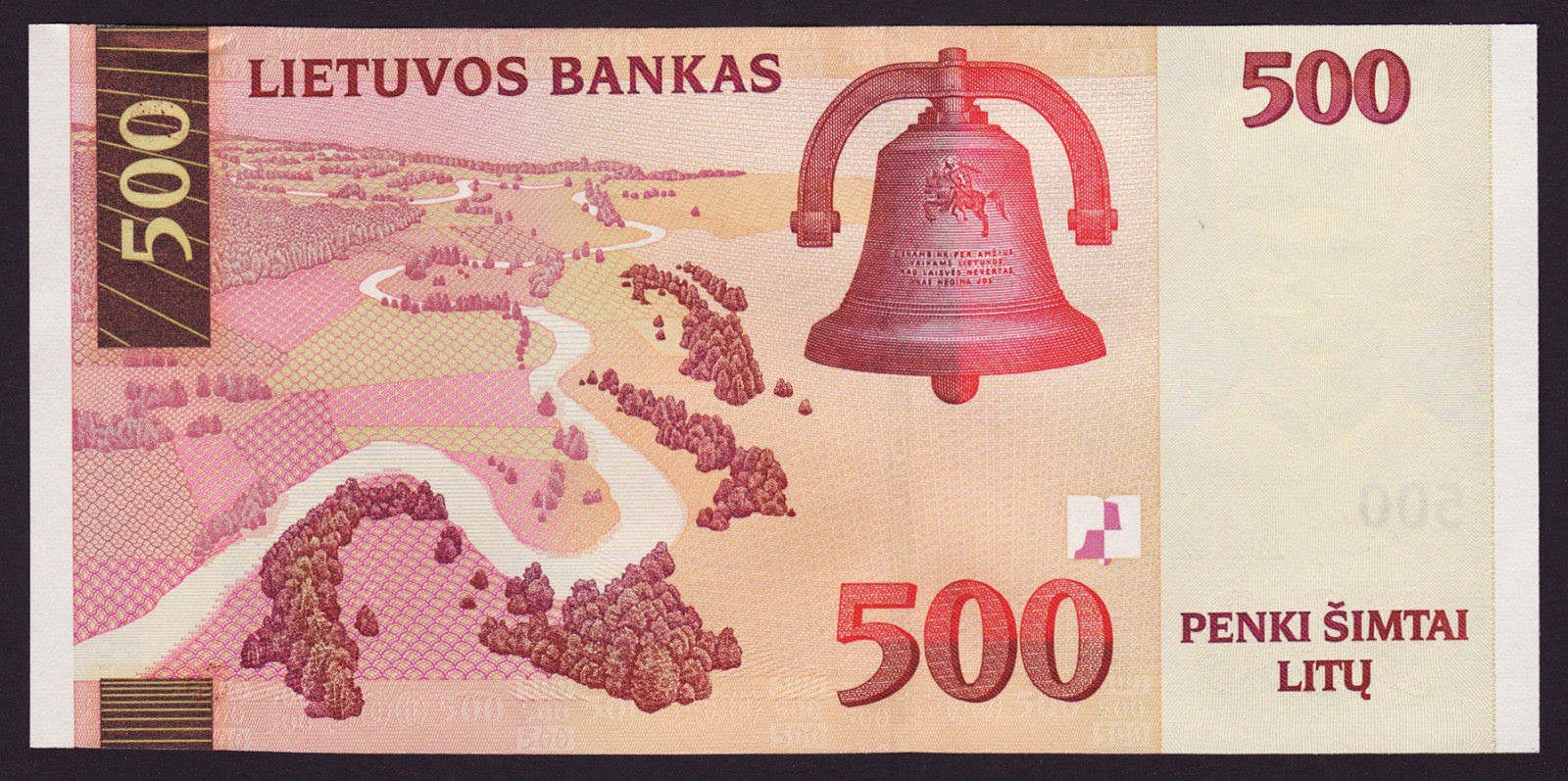 500 Lithuanian Litas note, Bell of the Freedom