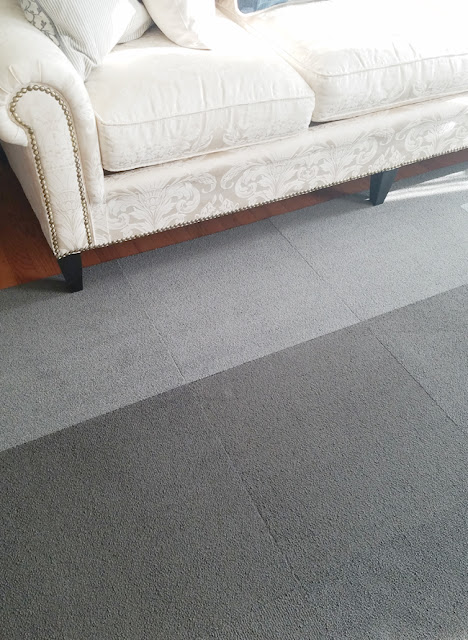 Floor gray carpet tiles
