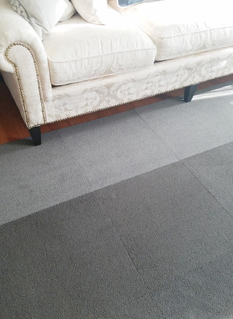 Floor gray carpet tiles