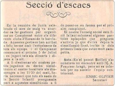 Boletín 119 del Casal Catòlic de Sant Andreu, junio de 1932