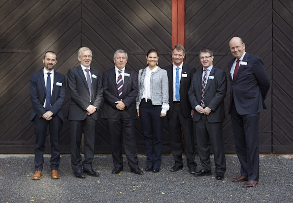 Crown Princess Victoria watched  the FIFA World Cup 2014 group C qualifying football match