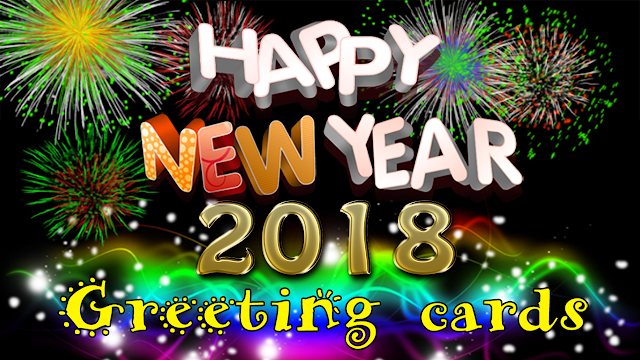 Happy New Year 2018 Greeting Cards Images