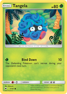 Tangela Burning Shadows Pokemon Card