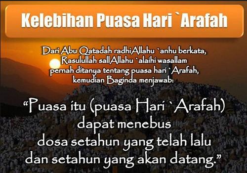 Berikut keutamaan dari Puasa Idul Adha atau Puasa Arafah
