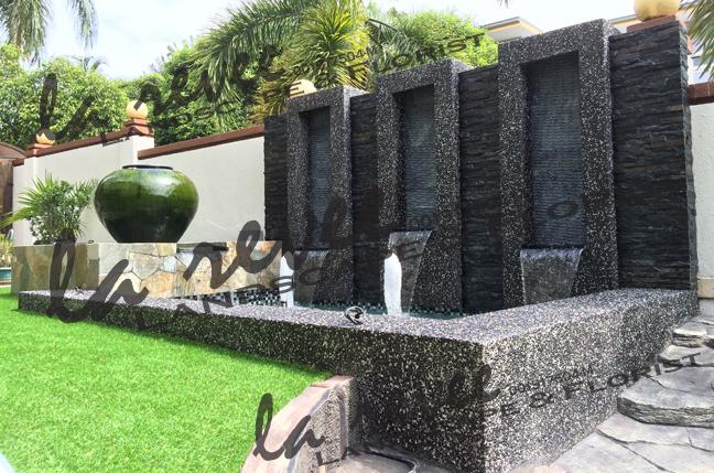Mr chong melawati bungalow for Koi pond modern