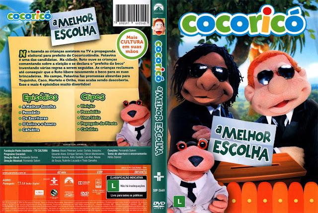 Capa DVD Cocoricó A Melhor Escolha