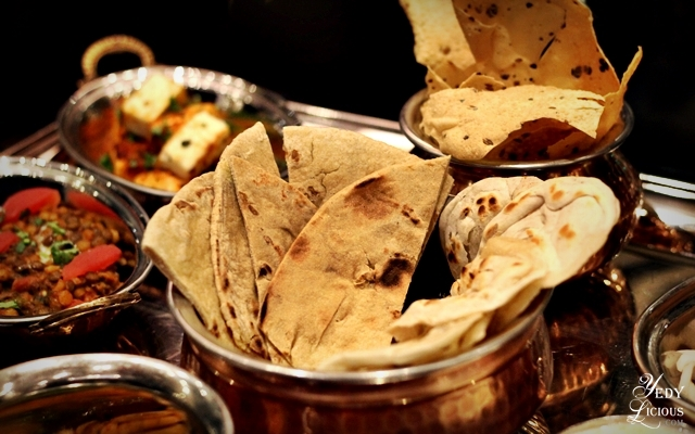 Indian Breads at Hyatt Buffet