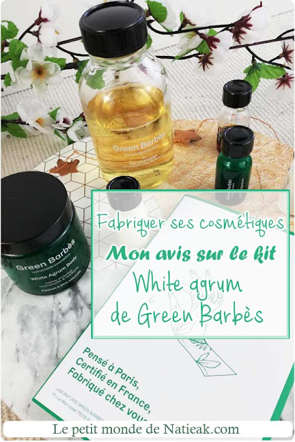 kit cosmétique maison White agrum de Green Barbès