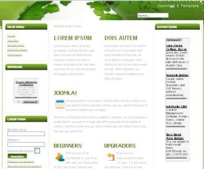 Free Green World V2 Joomla 2.5 Template