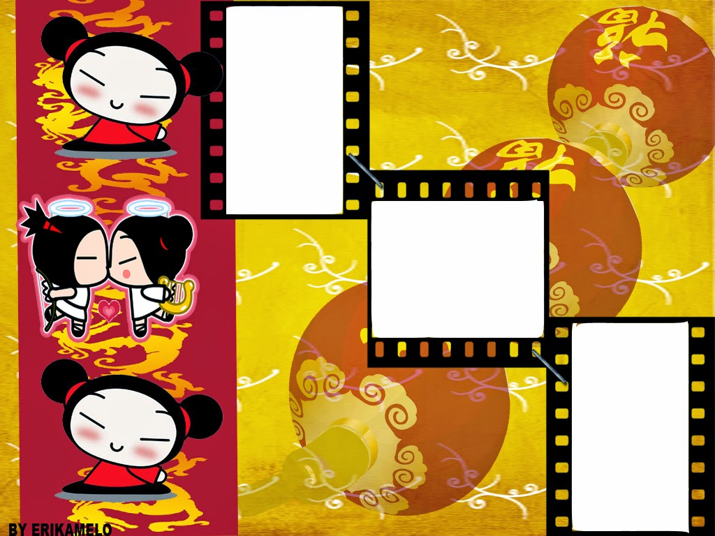 Pucca Angel Free Printable Invitations, Labels or Cards.