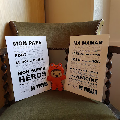 Affiches Papa Maman Suite Créative