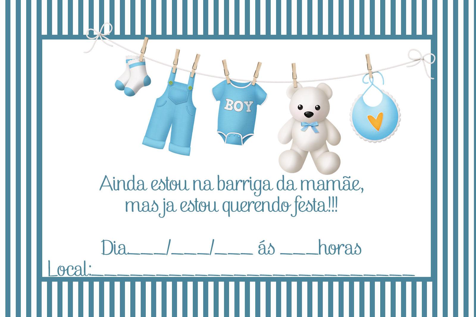 Convite Para Chá De Bebê Grátis Editáveis 2 Cantinho Do Blog
