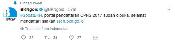 Registrasi CPNS Dibuka