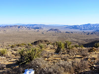 View southeast on Ryan Mountain Trail toward Queen Valley and Malapai Hill, Joshua Tree National Park
