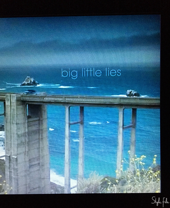 Screenshot of tv show big little lies' theme song before the tv show began as I binged on it during summer
