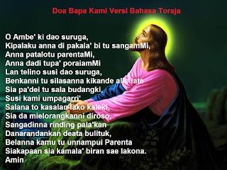Doa Bapa Kami Versi Bahasa Toraja