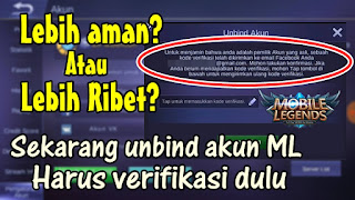 Cara Terbaru Unbind Akun Facebook Mobile Legends
