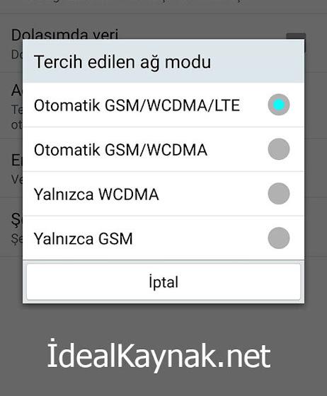 4.5G Destekleyip Ayarlarda LTE Yazmayanlar Buraya