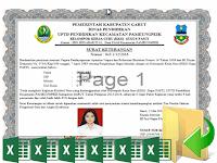 Download Aplikasi Cetak Sertifikat Piagam KKG Terbaru Format Excel Xlsm