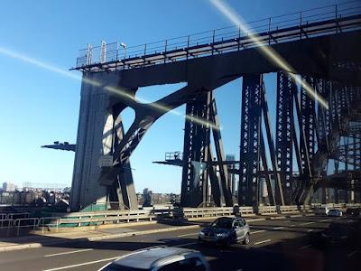 Driving on a freeway to Kirribilli Sydney Australia