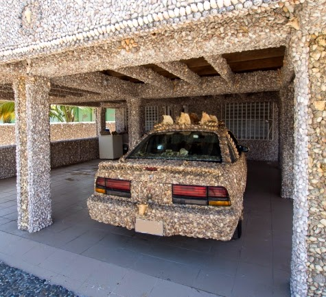 shell covered car