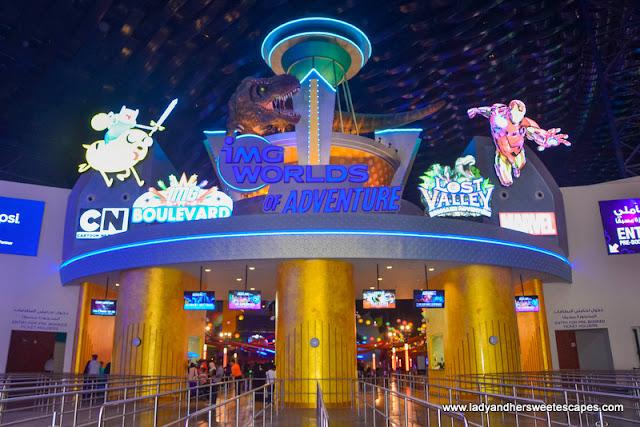 entrance to IMG Worlds of Adventure Dubai