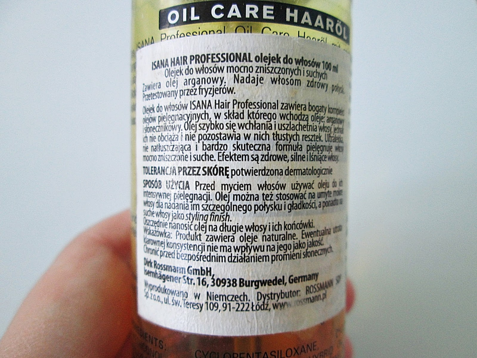 Isana Hair Professional Oil Care Haaröl