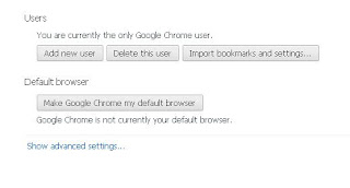 Google Chrome Settings Advanced Settings