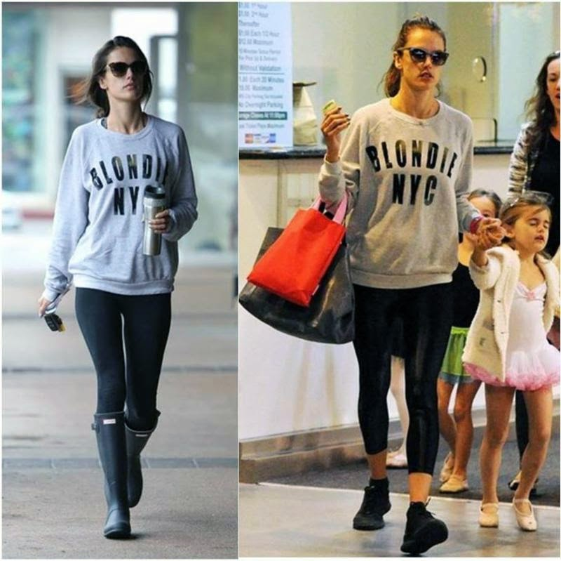 Alessandra Ambrosio Wearing Blondie NYC Fleece