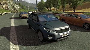 Range Rover Evoque car in traffic
