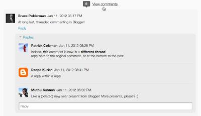 Blogger verschachtelte Kommentare