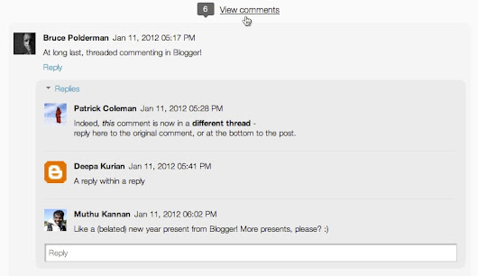 Engage with your readers through threaded commenting