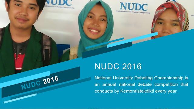 NUDC 2016 Tingkat Nasional: 7 Hari Debat Bareng English Debaters Se-Indonesia di Universitas Mercubuana Jakarta
