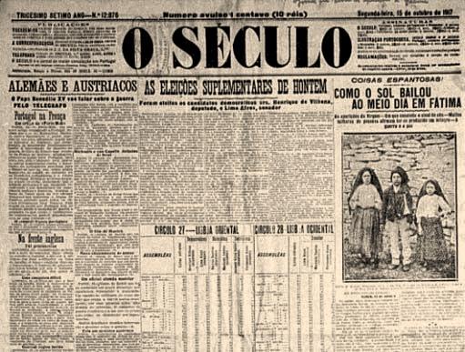 Image result for fátima ilustração portuguesa 13 outubro 1917