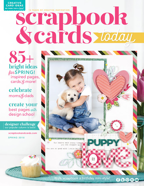 SCT Magazine Spring 2018 Issue. Click to download an issue and to see another cover scrapbooking layout attempt by Jen Gallacher from www.jengallacher.com #scrapbooking #scrapbookingmagazine #sctmagazine