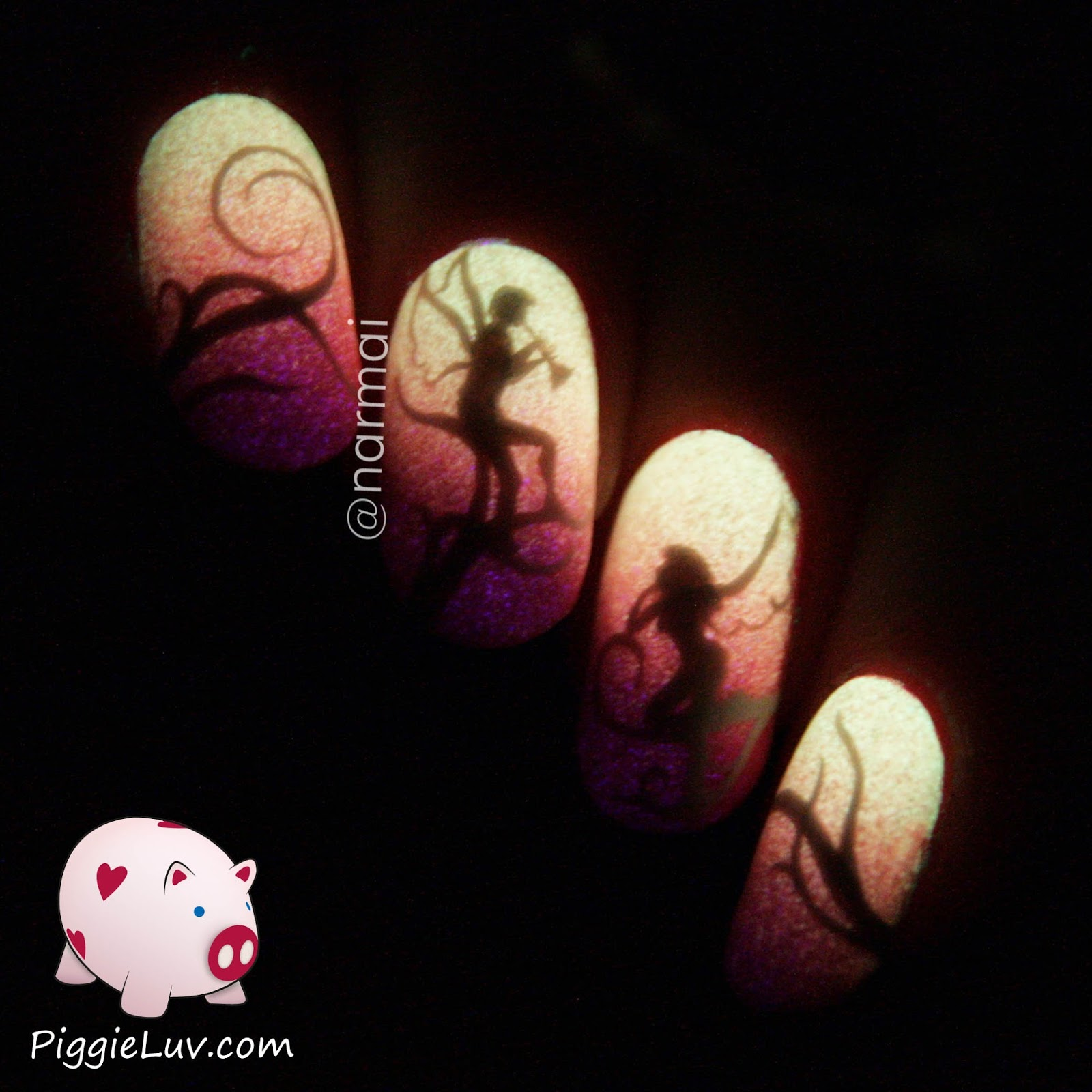 Piggieluv Freehand Stairway To Heaven Nail Art: PiggieLuv: Serum No. 5 Infrared: Swatches, Review And Nail