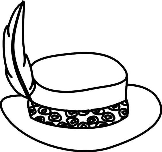 Tranh tô màu mũ cài lông vũ