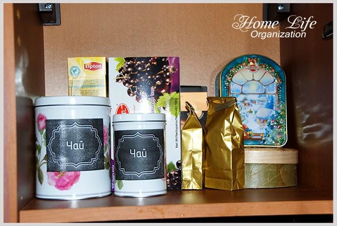 Организация хранения чая на кухне