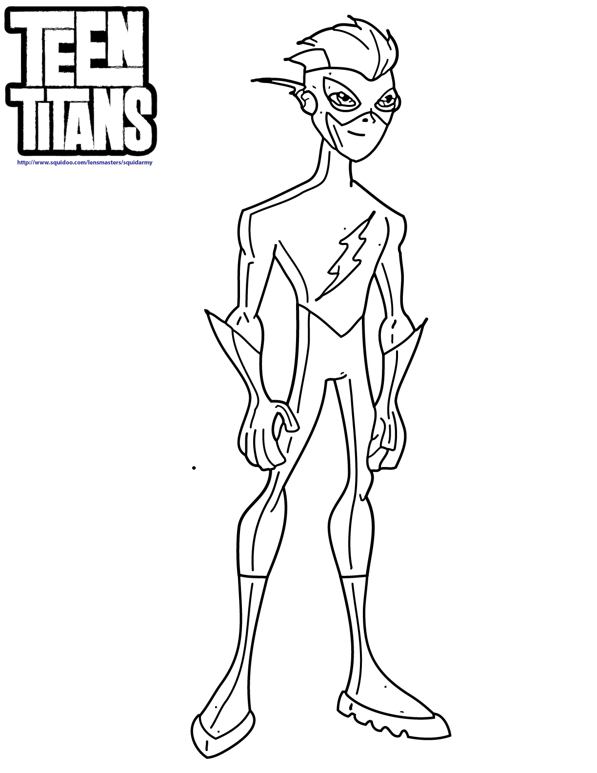 Teen Titans Go Coloring Pages - Squid Army