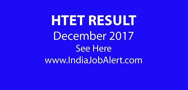 HTET Result Declared December 2017    See Here