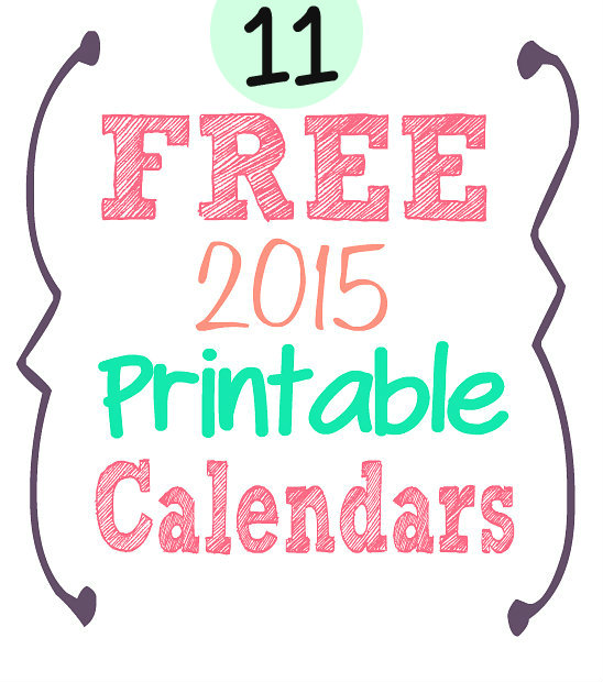 2015 Free Printable Calendars Crafting in the Rain