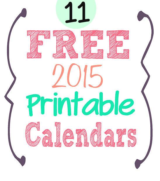 calendars 2015 free