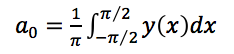 The DC terms of the Fourier series, which is the average of the function.