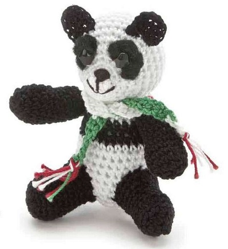 Panda amigurumi – Descrição do Passo a Passo – Bonek de Crochê | 512x468