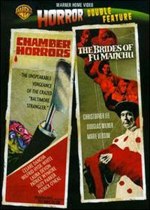 Warner Home Video Horror Double Feature Chamber Of Horrors and Brides Of Fu Manchu cover